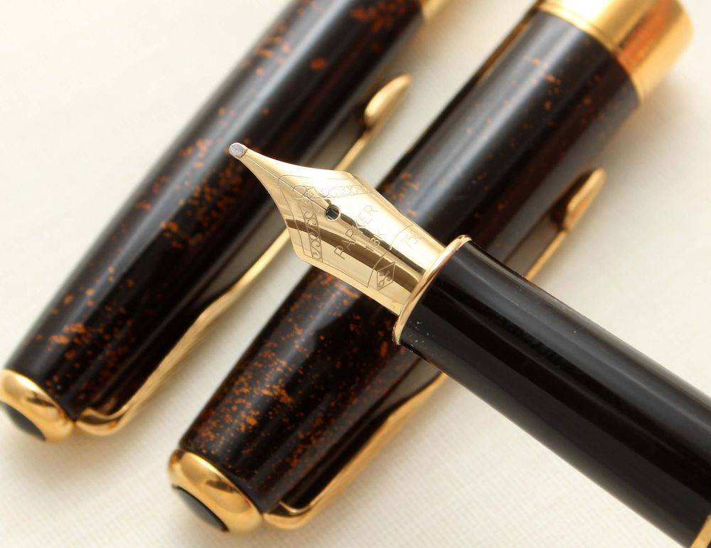 9411 Parker Sonnet Fountain Pen and Ball Pen Set in Chines Laque Vision Fon