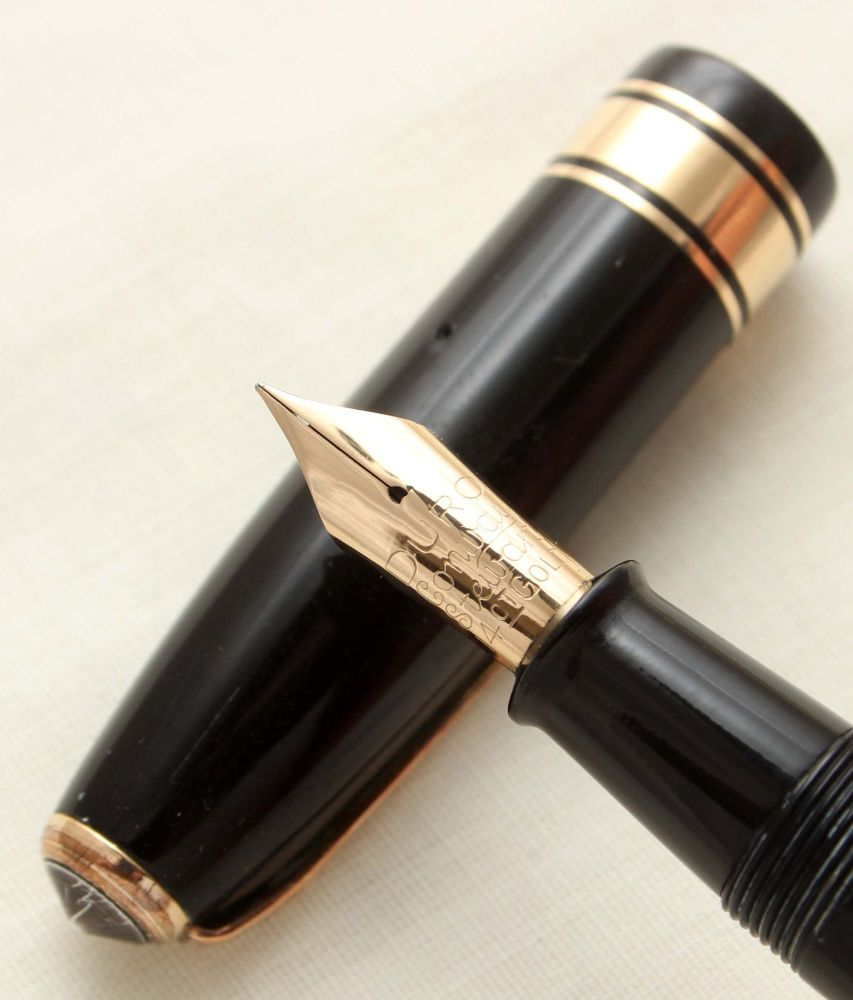 9456 Conway Stewart 100 in Classic Black. Fine FIVE STAR Nib