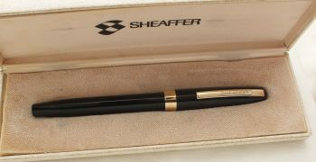 9479 Sheaffer Imperial Touchdown Fountain Pen in Black with Gold Filled trim, Smooth Extra Fine FIVE STAR Nib. Mint and Boxed.