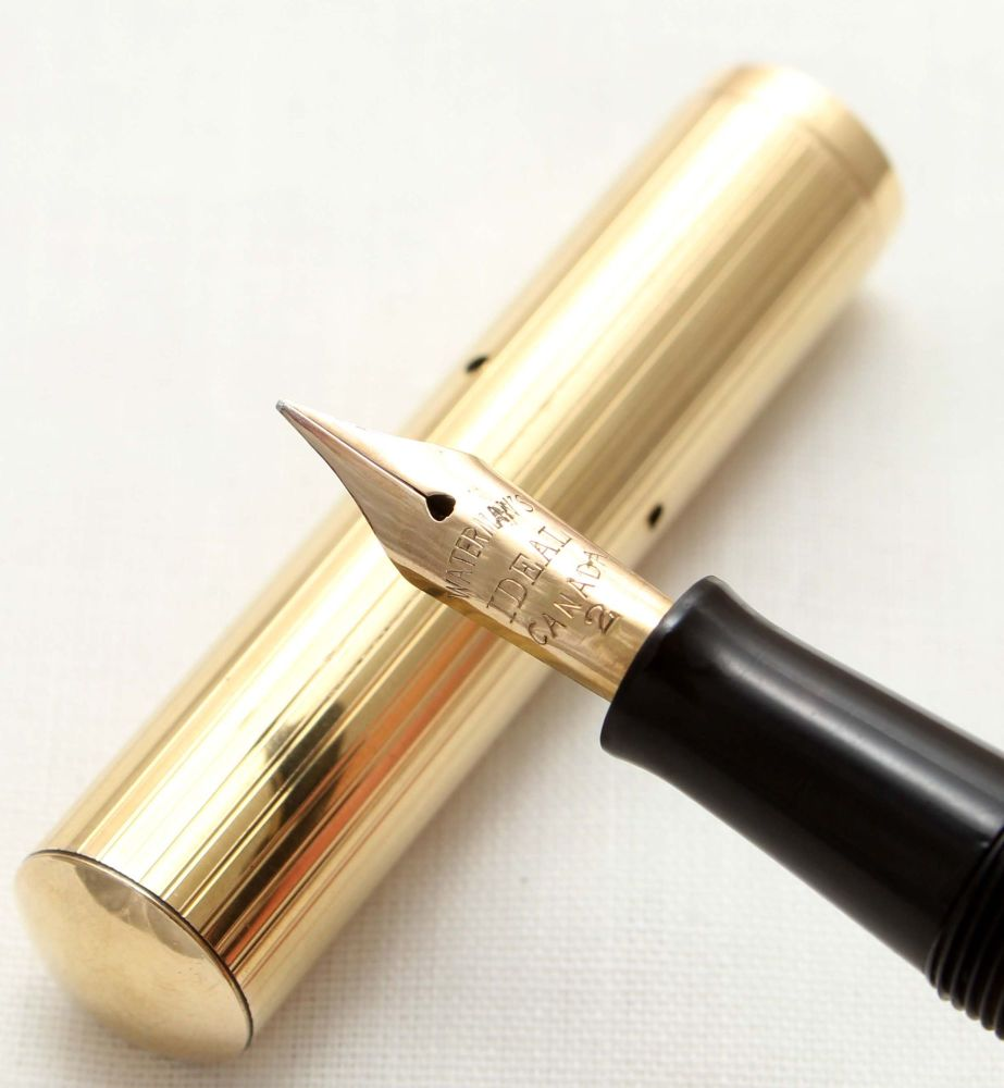 9575 Watermans Ideal No.52. with a rolled gold Overlay. Medium Italic Flex
