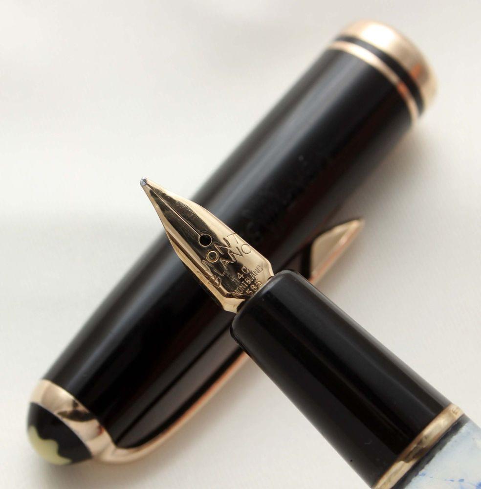 9590 Montblanc No.252 Piston filling Fountain Pen in Classic Black. Fine FI
