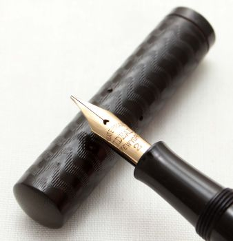 9609 Watermans Ideal No.12 PSF in Black Hard Rubber. Fabulous Medium Full Flex FIVE STAR Nib.