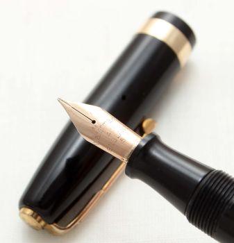 9614 Watermans 515 Fountain Pen in Black, Fine FIVE STAR Nib.