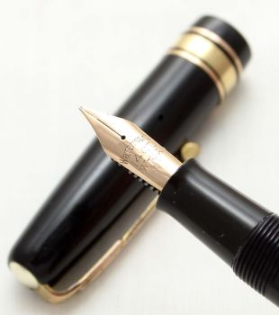 9616 Watermans W5 Fountain Pen in Black, Broad side of Medium FIVE STAR Nib.