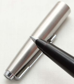 9675 Parker 45 CT Flighter in Brushed Stainless Steel. Smooth Broad FIVE STAR Nib.