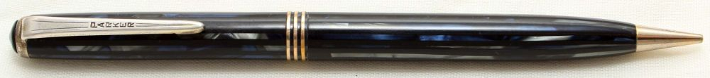 9694 Parker Duovac Propelling Pencil in Blue, Black and Silver.  c1940.