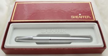 9717 Sheaffer Imperial Fountain Pen in Brushed Steel, Smooth Fine FIVE STAR Nib.