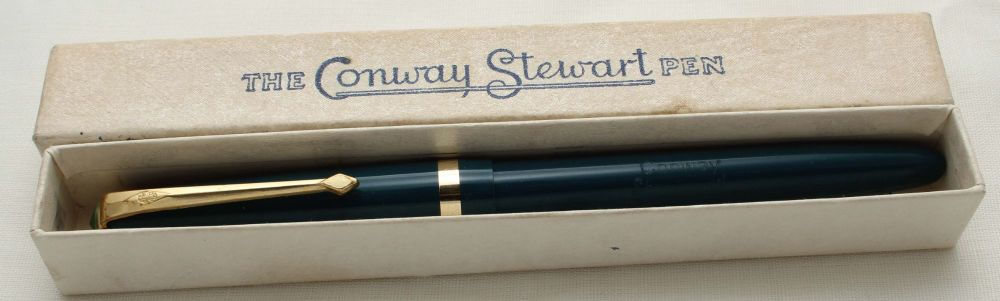 9718 Conway Stewart Shorthand Pen in Turquoise Blue,  Fine FIVE STAR Nib.
