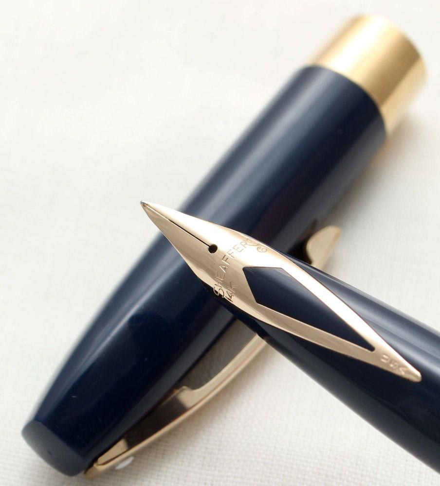 9790 Sheaffer Imperial Touchdown Fountain Pen in Blue.