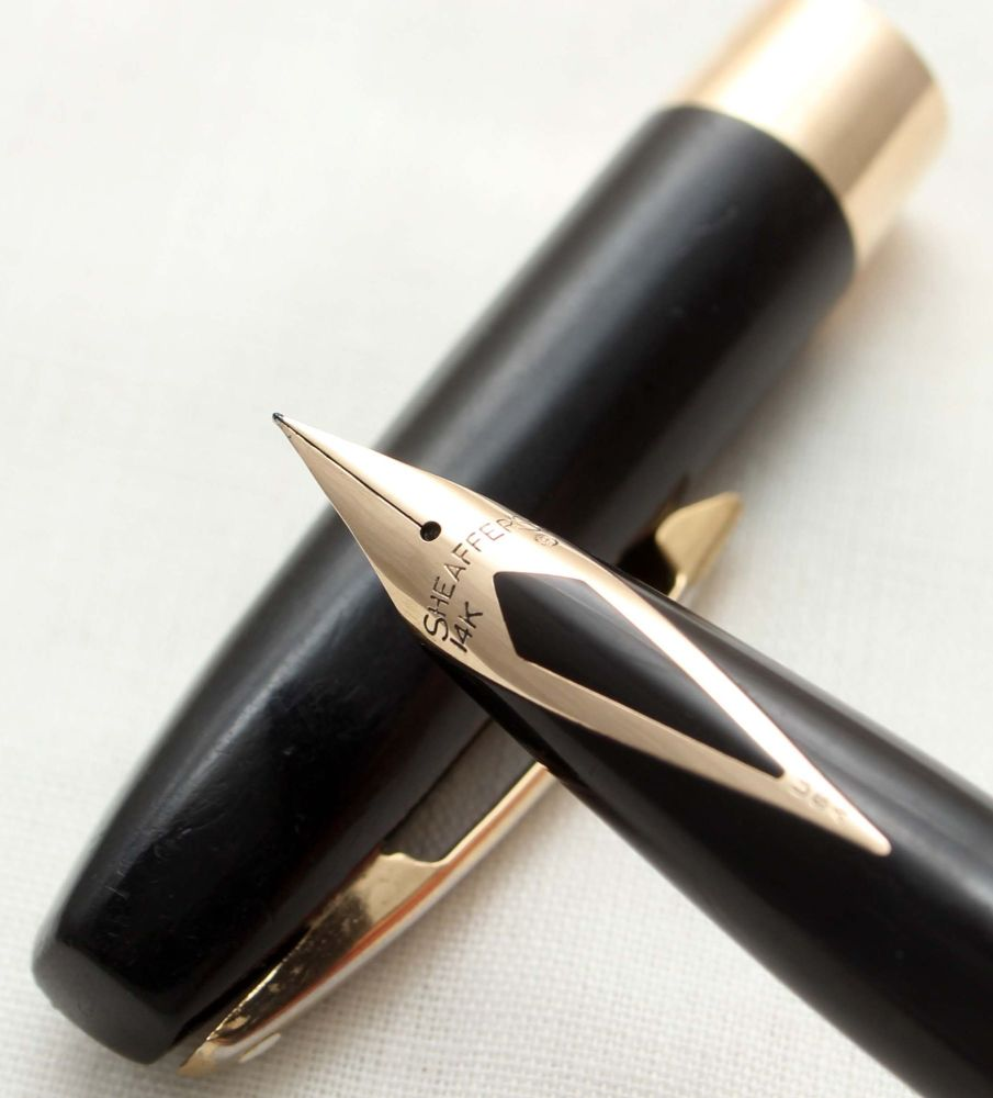 9791 Sheaffer Imperial Touchdown Fountain Pen in Black, Smooth Fine FIVE ST