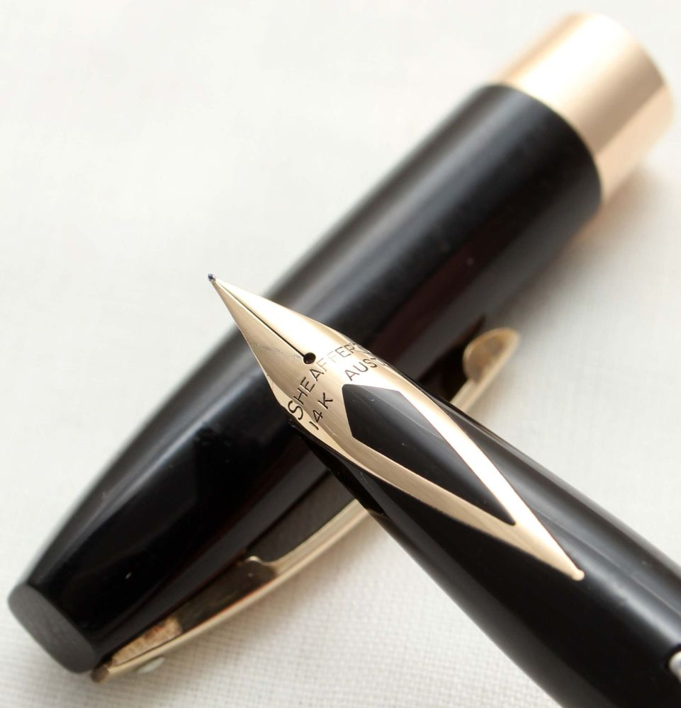 9792 Sheaffer Imperial Touchdown Fountain Pen in Black, Smooth Extra Fine F