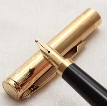 9880 Sheaffer Fashion II Gold Filled Fountain Pen. Broad FIVE STAR nib.