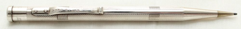 9902 Yard-O-Led Silver Plated Propelling Pencil.