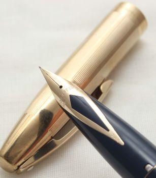 9911 Sheaffer Imperial Fountain Pen in Blue, Smooth Fine Nib.