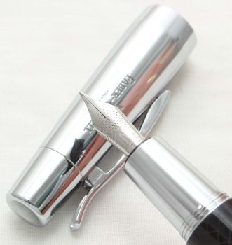 9926. Faber Castell E-Motion Fountain Pen in Parquet Black. Smooth Medium FIVE STAR Nib.