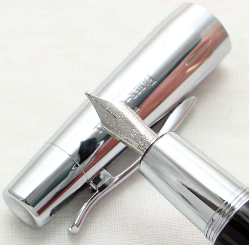 9927. Faber Castell E-Motion Fountain Pen in Croco Black. Smooth Medium FIV