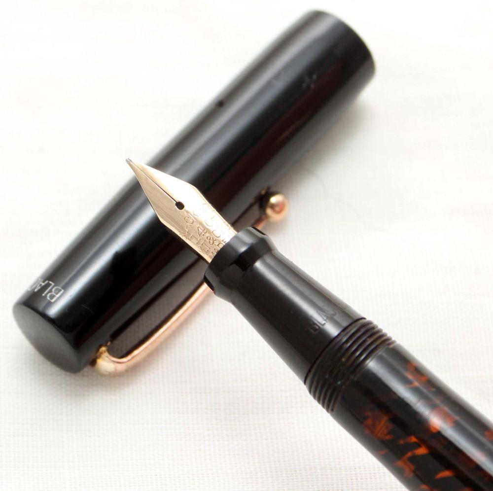 9944. Superb Rare Blackbird (Mabie Todd) BT200/60 Fountain Pen in Black Har