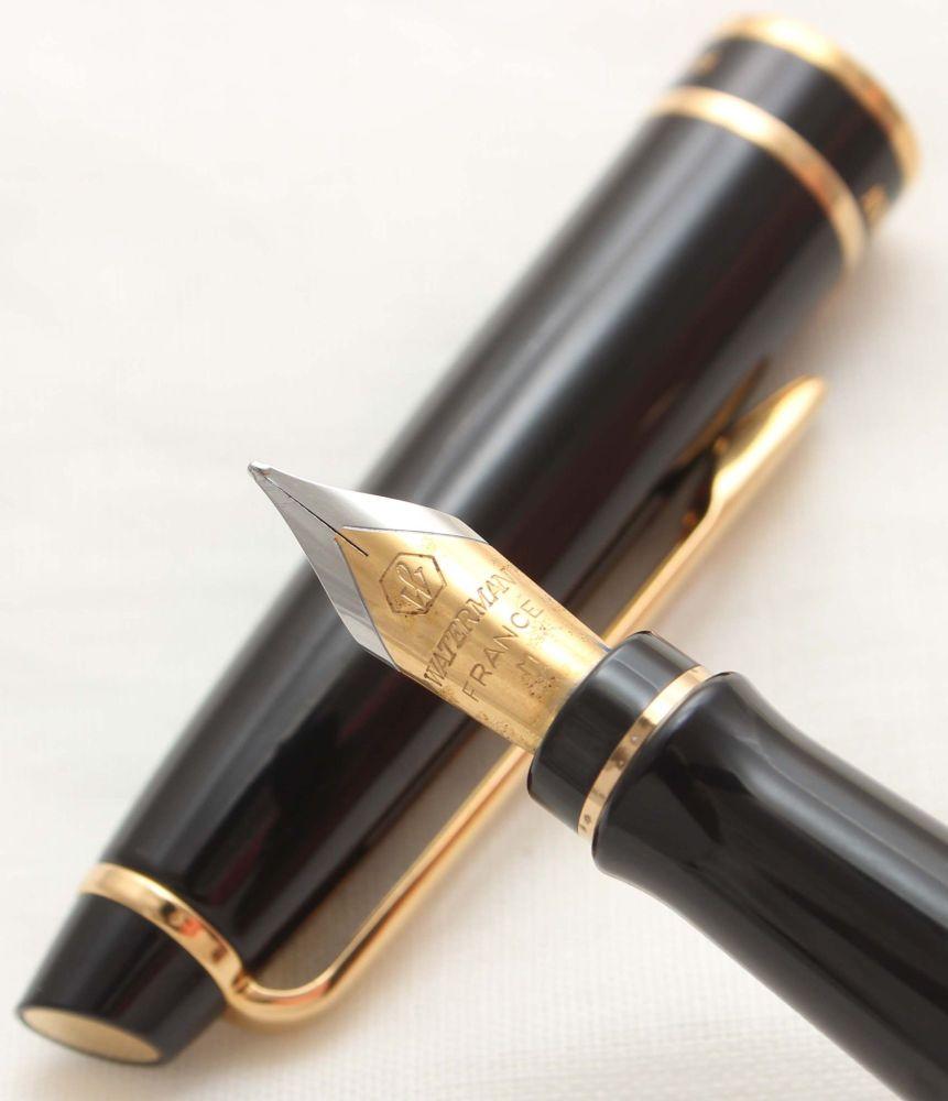 9963 Watermans Hemisphere Fountain Pen in Classic Black, Smooth Fine Nib.