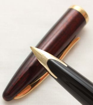 9972 Watermans Carene Fountain Pen in Marine Amber with Gold Filled trim. Smooth Medium FIVE STAR Nib.