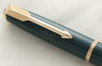 3001 Parker Duofold Propelling Pencil in Green with Gold filled trim.