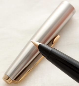 3009 Parker 45 GT in Black. Smooth Extra Fine FIVE STAR nib. New Old Stock.
