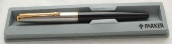 3025 Parker 45 GT in Black. Smooth Medium FIVE STAR nib. Mint and Boxed.