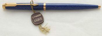 3071 Parker 75 Ball Pen in Lapis Blue Laque, c1980.
