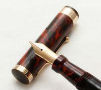 3131 - Swan (Mabie Todd) 46 ETN Eternal Self Filling Fountain Pen in Woodgrain, Large No.6 Fine FIVE STAR Nib.