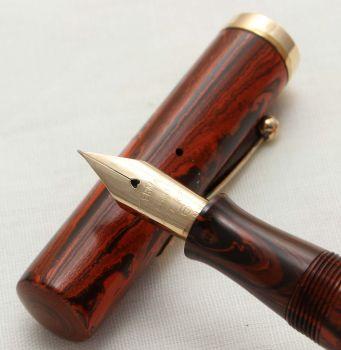 3132 Ultra Rare Watermans Ideal No.56 in Red Ripple. Fabulous Fine Flex FIVE STAR Nib.