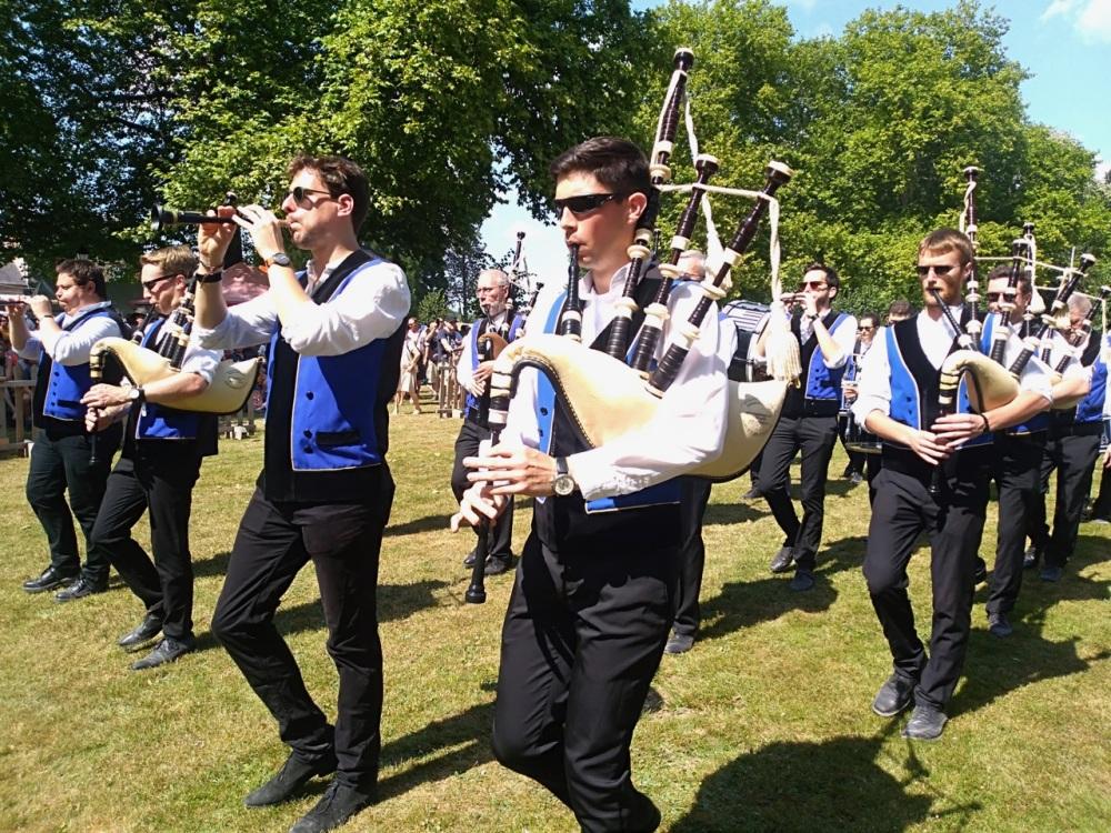 A Breton pipe Band