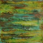 Layers of Decay Experiments in Oxidation 20x20cm Wrapped Canvas - Acrylics,