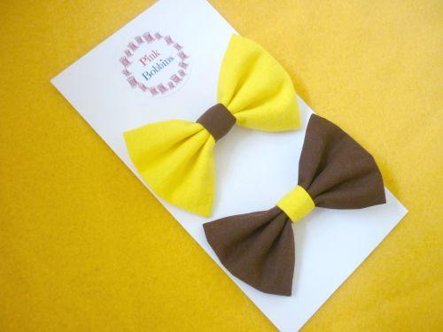 Brownies hair bow pair