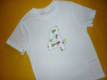 No. 4 t-shirt - boys - choice of designs for the number