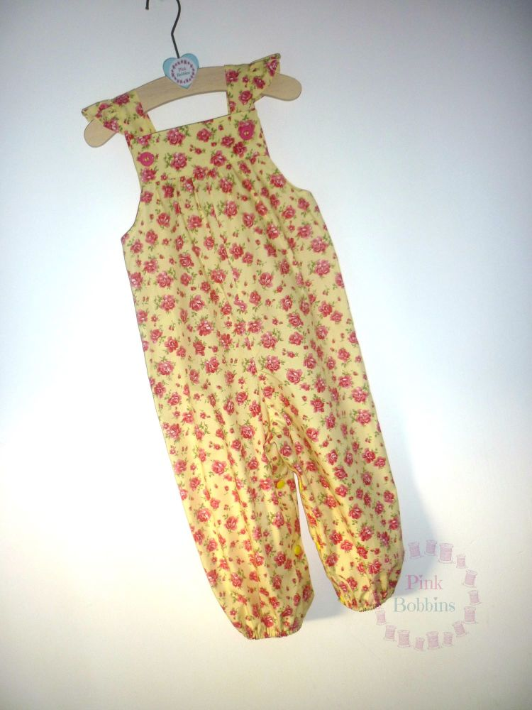 Lemon yellow floral jumpsuit