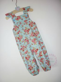 Blue rose jumpsuit - made to order
