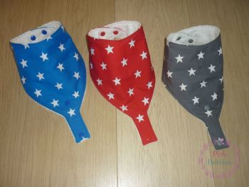 BLUE star dummy bib