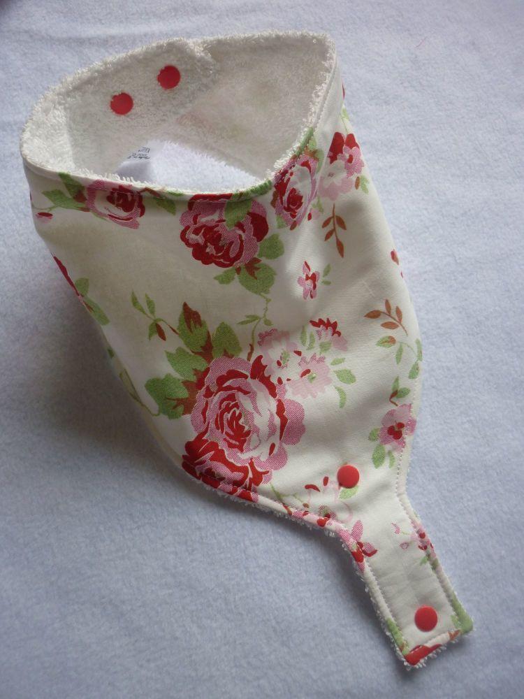 Floral rose dummy bib