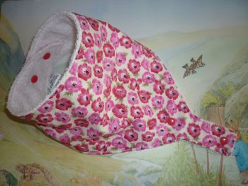 Poppy dummy bib