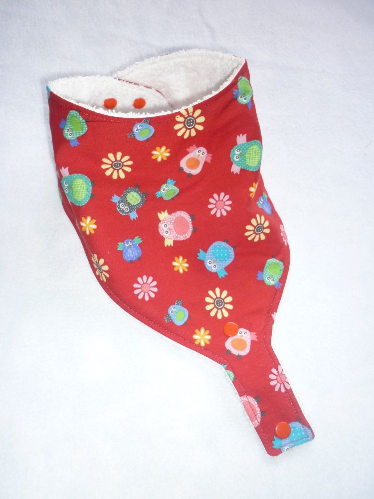 Red owl dummy bib