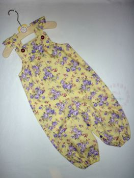 Lemon and lilac floral jumpsuit - made to order