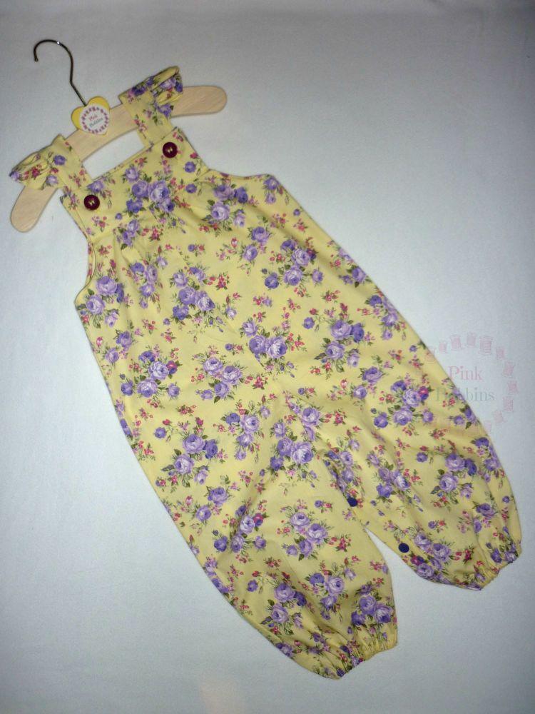 Lemon and lilac floral jumpsuit