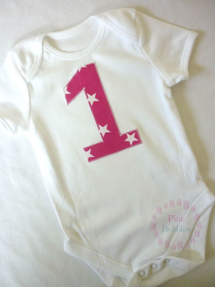 Pink & white star no.1 vest