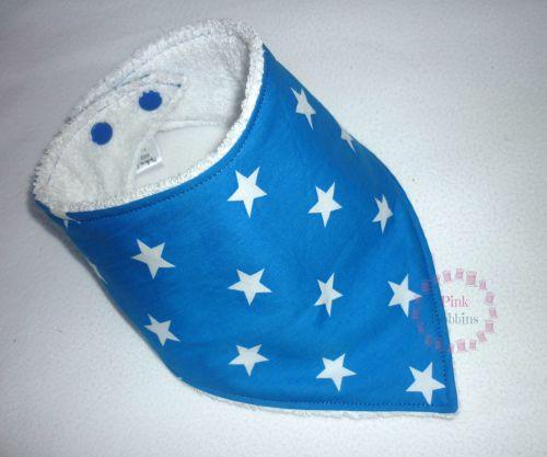 Blue star dribble bib