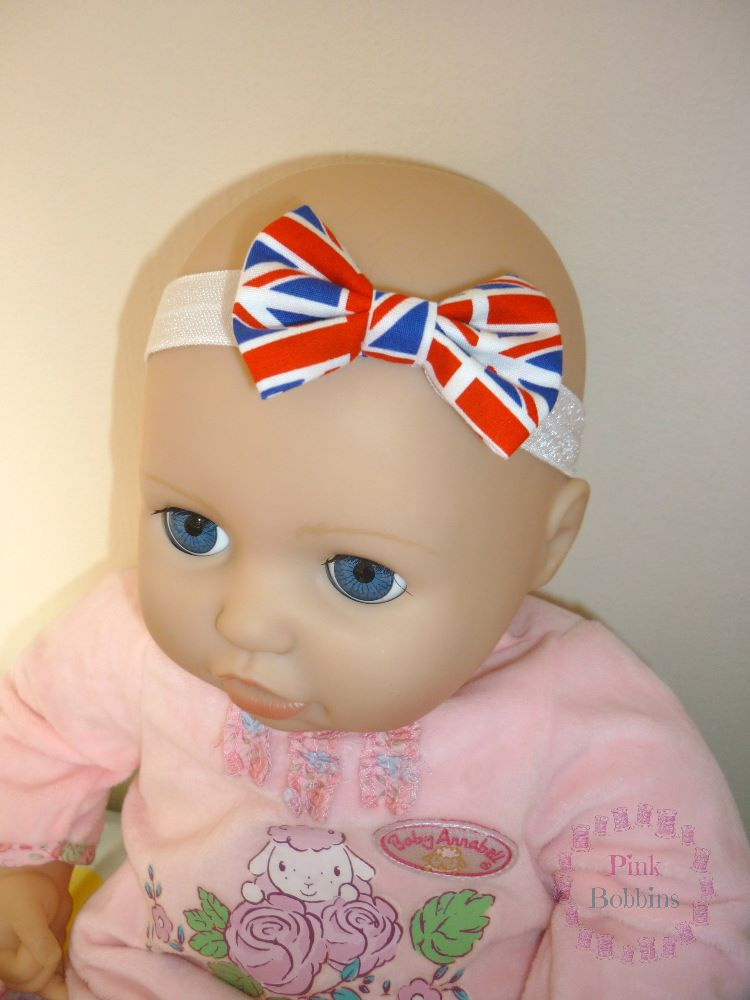 Elastic bow headbands