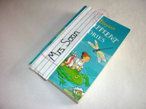 Personalised name/teacher stay-put bookmark