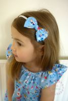 Alice in Wonderland bow hairband - made to order