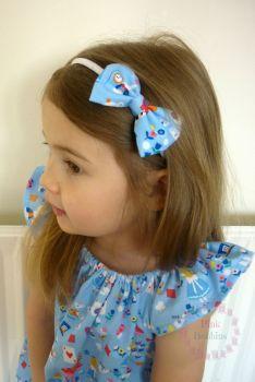 Alice in Wonderland bow hairband