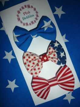 USA hair bow set