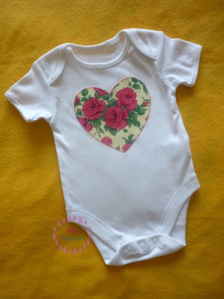 Heart vest - Liberty of London rose print