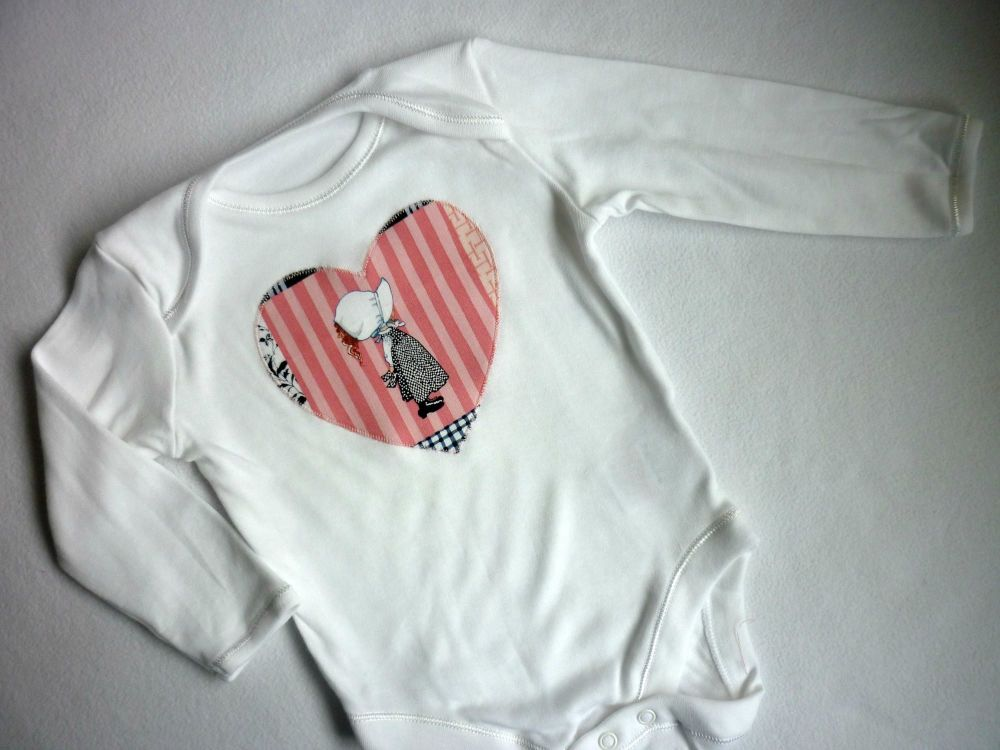 Holly Hobbie heart vest. [3-6 months only.]